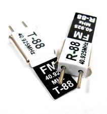 RC 40 MHz 40.925 FM Cristal TX & RX Receptor 40 MHz negra del canal 88