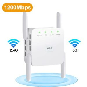 5G Wireless WiFi Repeater Booster 2.4G 5Ghz Wi-Fi Amplifier 300Mbps 1200 Mbps