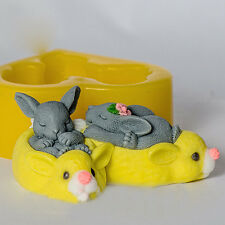 JM rabbits 3d mold silicone soap mold silicone molds for soap handmade soap mold