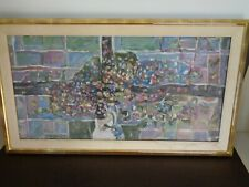 Large Original Abstract Oil Painting Signed (Damaged)
