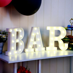 3X LED Alphabet Marquee Large BAR Sign Carnival Marquee Shabby Night Light New