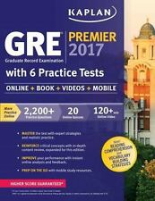 GRE Premier 2017 with 6 Practice Tests: Online + Book + Videos + Mobile (Kaplan