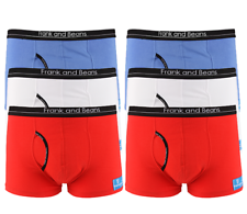 FRANK AND BEANS Big Flags Pack Boxer Briefs x 6
