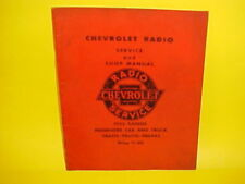 1952 CHEVROLET STYLELINE BELAIR FLEETLINE TRUCK DELCO AM RADIO SERVICE MANUAL
