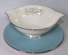 Syracuse China Meadow Breeze Gravy Bowl With Attached Underplate