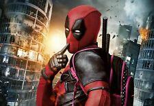"Marvel Superhero Movie Funny Film Deadpool Cheeky -  Canvas Pictures 30""X20"""