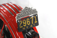 decco de  plaque  1940 NEW YORK WORDL'S FAIR  pour Harley, Custom
