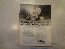"""1970 Dr. Pepper """"What's a doctor doing in the soft...a"""" Vintage Magazine Ad"""