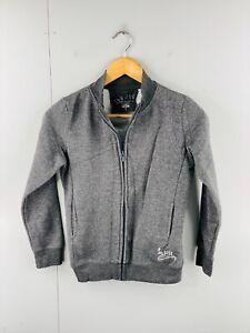 Pepe Jeans Women's Long Sleeve Athletic Logo Full Zip Fleece Jacket Size S Grey