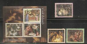 Cook Islands SC # 1478-1480, 1481a-c Christmas Paintings ( Christmas 2013 ). MNH