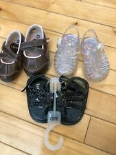 Baby/Toddler Girl Shoe- Lot Size 2/ , Sandals & Everyday - 3 Pairs