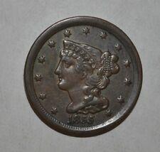 1855 1/2C Braided Hair Half Cent 6303