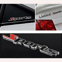 Sports Word letter 3D Chrome metal Car Sticker Emblem Badge Decal Auto Decor New
