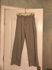 Boy's Size 14 Khaki Eddie Bauer School Pants Adjustable Waist EUC