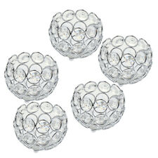 5x Crystal Candelabra Wedding Centerpiece 3'' Votive Tealight Candle Holders