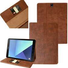 Premium Leather Cover Samsung Tab S2 Protective Case Sleeve Tablet Galaxy braun