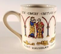 Vintage (1989) 6 Great Castles Of King Edward I Souvenir Mug 8oz. Wales UK