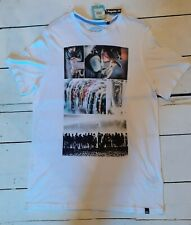 Mens Animal White Graphic Tee Short Sleeved T Shirts