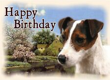 Parson Terrier Dog Design A6 Textured Birthday Card BDPARSON-2 by paws2print