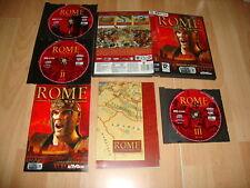 ROME TOTAL WAR DE ACTIVISION PARA PC CON 3 DISCOS USADO COMPLETO EN BUEN ESTADO