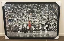 Michael Jordan Framed Poster Last Shot NBA CHICAGO BULLS Black