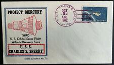 Mercury Schirra MWB Beck Cachet No79 USS Charles S. Sperry Space Raumfahrt fusee
