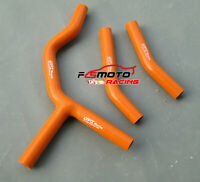 Fit KTM 300 SX//XC//EXC 2007-2014 silicone radiator hose kit 2011 2012 2013 orange