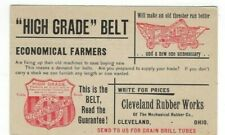 1895 UX12 Postal Card Advertising, Cleveland Ohio Rubber Works Farming Thrasher