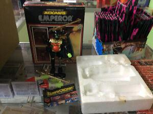 Vintage Mego Micronaughts Emperor Figure Used In Original Box READ***