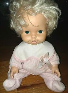 """VINTAGE 1982 CPG PRODUCTS BABY ALIVE 14"""" BABY DOLL ONLY / lever on back"""