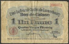 New ListingWorld Currency 1914 Luxembourg 1 Franc 80 Pfennig P 21
