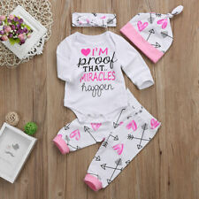 US Newborn Baby Girls Clothes Romper Jumpsuit + Floral Pants Leggings Outfit Set