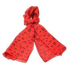 Accessoires vintage rouge en 100% soie
