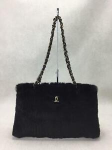 CHANEL Lapinfar 2001 Far 6195710 Fur Black Fashion Tote bag 1554 From Japan