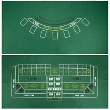 "Blackjack & Craps Green Casino Gaming Table Felt Layout, 36"" x 72"""