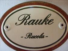 Kräuterschild Kräuterstecker Pflanzschild Emaille Schild Rauke / Rucola 25cm