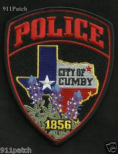 CUMBY, TX - CUMBY 1856 Police Law Enforcement Sheriff Patch