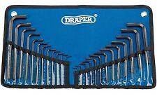 DRAPER Metric / Imperial combinata Esagonale HEX Allen Chiave 25 Pezzi Set in Strumento Roll