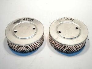 Air Filter Pair Fits Triumph TR4  1961+ New Wix  (QTY 2) 42307