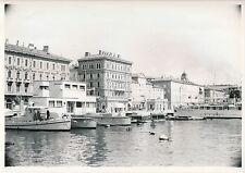 RIJEKA c. 1935 - Maisons sur le Port Les Bateaux  Croatie - DIV 6560
