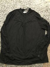 Ladies Black Lace Top Size 16uk New With Tags