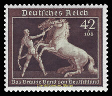 EBS Germany 1939 Brown Ribbon Horse Race - Braunes Band - Michel 699 MH*