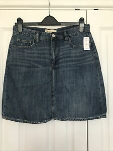 Gap Mid Blue Denim Skirt Size 12 Tall
