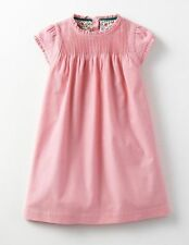 MINI BODEN Baby Girls Pintuck Ruffle Dress Formica Pink Corduroy NWT 6-12 MONTHS