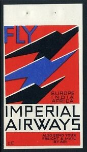 1935c Imperial Airways Propaganda Label -T. Lee Elliott