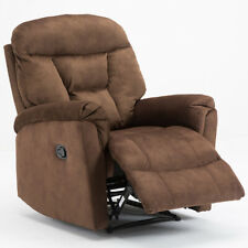 Manual Recliner Chair Sofa Chaise Modern Living Room Seat Fabric Padded Armchair