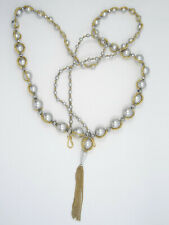 CHAN LUU GRADUATED FAUX PEARL STATEMENT NECKLACE ~ 38""