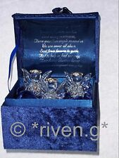 PREMIUM ANGEL MUSIC Box@CRYSTAL GLASS Inspirational Unique 3 x PRAYING Gift set