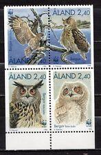 Finland / Aland - 1996 WWF / Owl -  Mi. 109-12 MNH