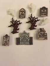 DRESS IT UP HALLOWEEN GRAVEYARD GHOST GHOULIES HAUNTED  EMBELLISHMENTS CRAFTS